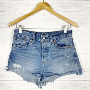 Levi's • High Waisted Cut Off Jean Shorts